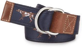 Daniel Cremieux Hunting Dog Print Belt