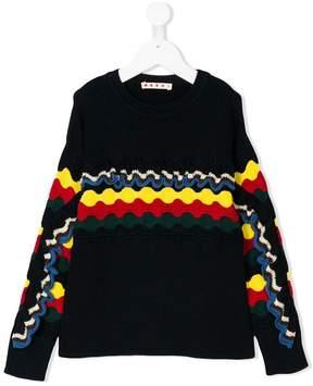 Marni knitted pattern jumper