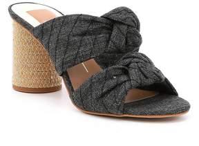 Dolce Vita Jene Denim Double Knot Block Heel Sandals