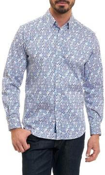 Robert Graham Men's Stafford Tailored Fit Geo Print Sport Shirt