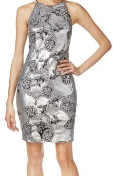 Calvin Klein Women's Embroidered Sequined Cocktail Dress