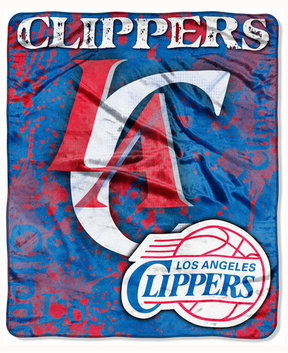 Northwest Company Los Angeles Clippers 50x60in Plush Throw Drop Down