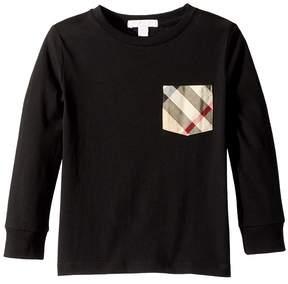 Burberry Long Sleeve YNG Tee Boy's Clothing