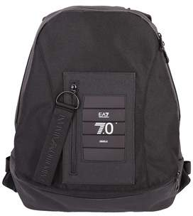 Emporio Armani Men's Black Polyester Backpack.