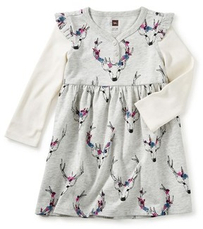 Tea Collection Infant Girl's Oh Deer Layered Henley Dress