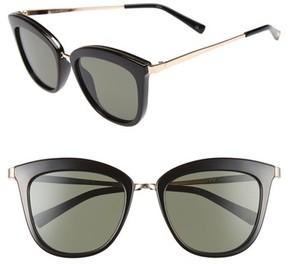 Le Specs Women's Caliente 53Mm Cat Eye Sunglasses - Black/ Gold