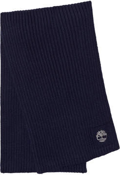 Timberland Kids Navy Branded Knit Scarf