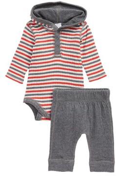 Nordstrom Infant Boy's Reversible Hooded Bodysuit & Leggings Set