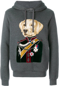 Dolce & Gabbana dog colonel patch hoodie