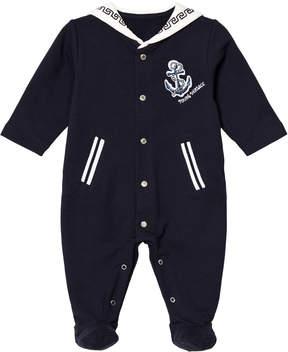 Versace Navy Sailor Style Branded Babygrow