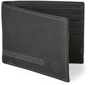 Timberland Black Leather Wallet & Key Fob Set
