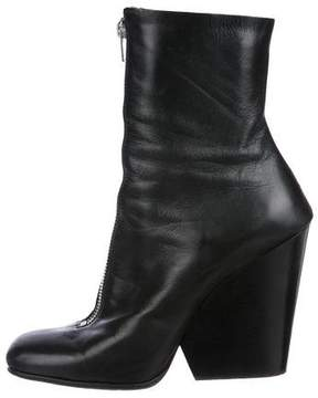 Celine Leather Wedge Ankle Boots