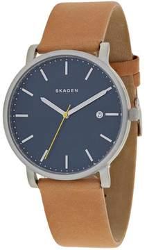 Skagen Hagen SKW6279 Men's Brown Leather and Stainless Steel Watch