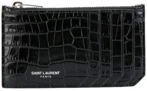 Saint Laurent Paris 5 Fragments zip pouch - BLACK - STYLE