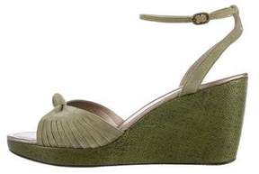 CNC Costume National Suede Wedge Sandals