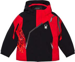 Spyder Red Colour Block Mini Challenger Jacket