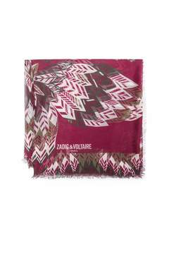 Zadig & Voltaire Zadig Voltaire Zadig Voltaire Kerry Feather Butterfly Scarf