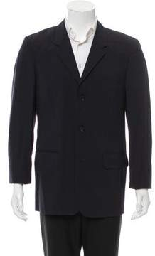 Calvin Klein Collection Notch-Lapel Three-Button Blazer