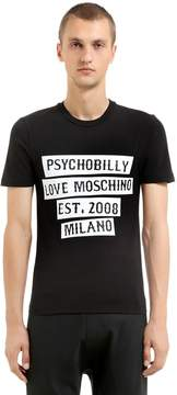 Love Moschino Psychobilly Print Stretch Jersey T-Shirt