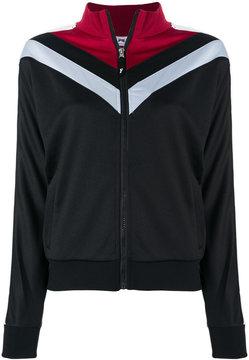 Fila colour block zip up sweatshirt