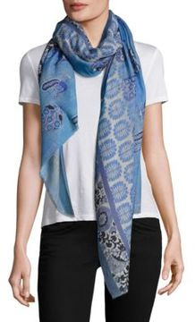 Bindya Patterned Frayed Hem Scarf