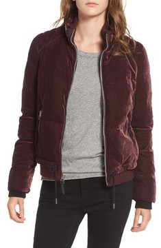 Andrew Marc Women's Vita Down & Feather Fill Quilted Velvet Jacket