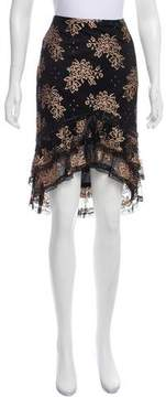 Betsey Johnson Lace High-Low Skirt