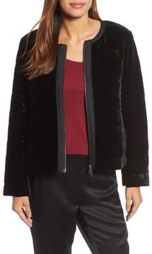 Eileen Fisher Women's Quilted Velvet Jacket