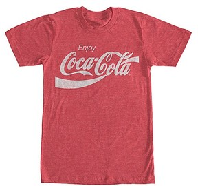 Fifth Sun Red Heather 'Enjoy Coca-Cola' Logo Tee - Men