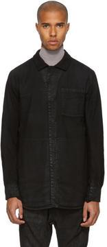 11 By Boris Bidjan Saberi Black Flannel Shirt