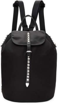 Prada Black Studded New Vela Backpack