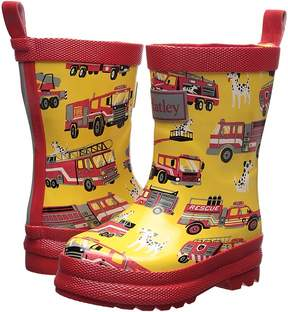 Hatley Fire Trucks Rain Boots Boys Shoes