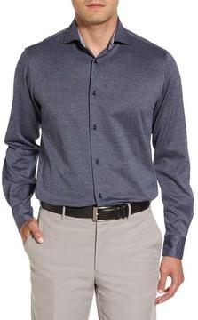 Paul & Shark Men's Herringbone Sport Shirt