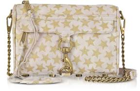 Rebecca Minkoff Nude And Golden Stars Mini Mac Clutch/shoudler Bag - PINK - STYLE