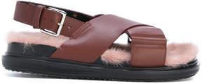 Marni fluffy insole sandals