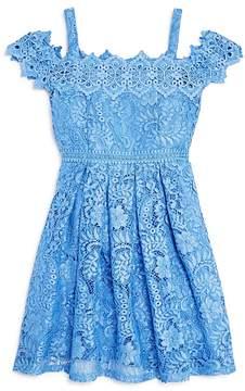 Us Angels Girls' Off-the-Shoulder Lace Dress - Big Kid