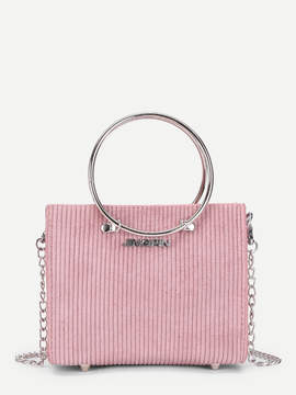 Shein Suede Chain Bag With Ring Handle