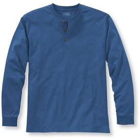 L.L. Bean Carefree Unshrinkable Tee, Traditional Fit Long-Sleeve Henley
