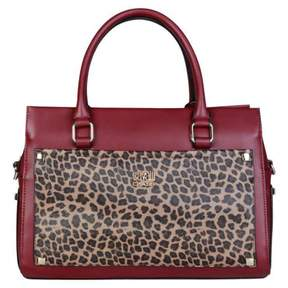 Roberto Cavalli Burgundy Synthetic Handbag