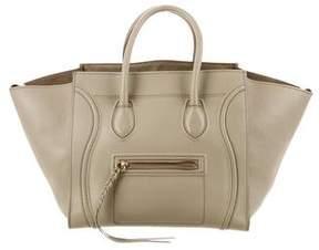 Celine Suede Medium Luggage Phantom