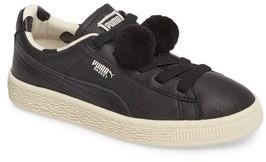 Puma Girl's X Tinycottons Basket Pompom Sneaker