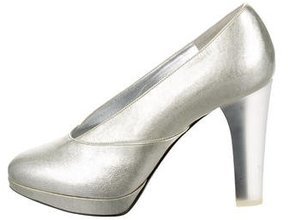 Nina Ricci Patent Leather Metallic Pumps