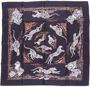 One Kings Lane Vintage Hermès Silk Guépards Scarf