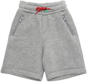 Fendi Neoprene Shorts W/ Embroidered Detail
