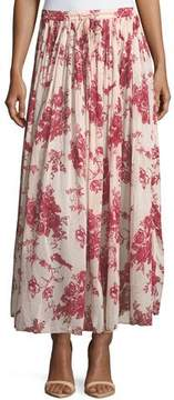 Forte Forte Liberty Floral-Print Gathered A-Line Voile Long Skirt