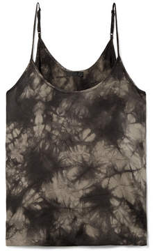 ATM Anthony Thomas Melillo Tie-dyed Crinkled Silk-charmeuse Camisole - Black