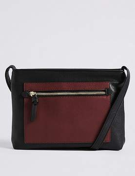 Marks and Spencer Faux Leather Colour Block Cross Body Bag