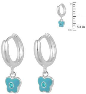 Ice Girls' Sterling Silver Butterfly Huggie Hoop Earrings