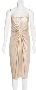 Christian Dior Sleeveless Metallic Dress