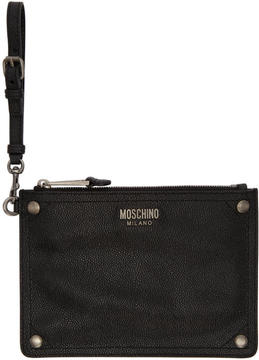 Moschino Black Leather Pouch
